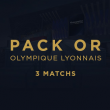 Match PACK OR 3 MATCHS